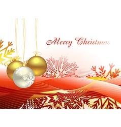 Christmas beautiful artistic wave and balls vector image