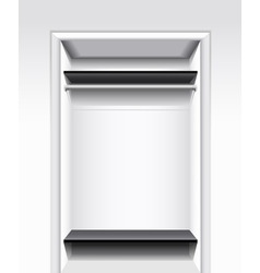 Built-in wardrobe vector