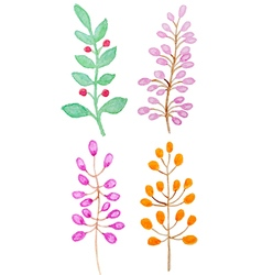 Decorative watercolor branch vector