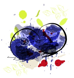stylized of blueberries vector image