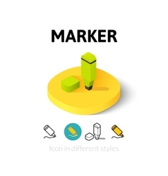 Marker icon in different style vector