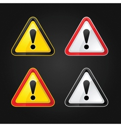 Hazard warning sign vector