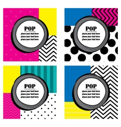 Pop art labels vector