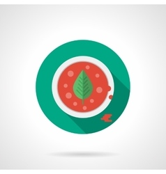Tomato soup flat color design icon vector