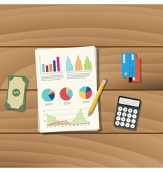 Accounting business paper document work with vector