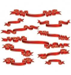 Ribbon sets vector