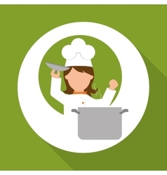 Chef design supplies icon restaurant concept vector