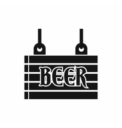 Street signboard of beer icon simple style vector
