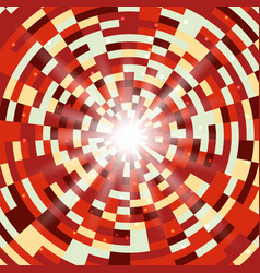 abstract red round mosaic background vector image