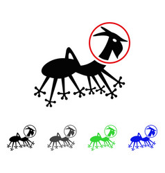 Alien creature skafandr flat icon vector