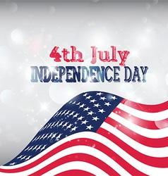 american flag background 1606 vector image