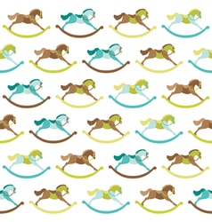 Baby Toy Horse Background vector image vector image