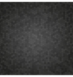 Black Mosaic Tile Honeycomb Background vector image