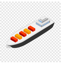 cargo ship isometric icon vector image vector image