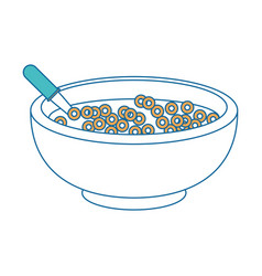 cereal bowl icon vector image vector image