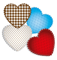 Colored figures heart icon vector