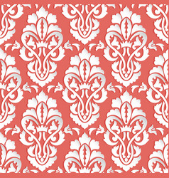 Damask seamless pattern backfround elegant luxury vector