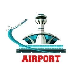 Emblem airport vector