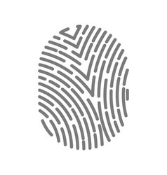 Fingerprint type with dashed line signs isolated vector