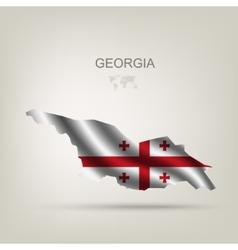 Flag of georgia as a country vector