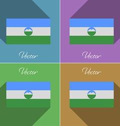 Flags kabardinobalkaria set of colors flat design vector