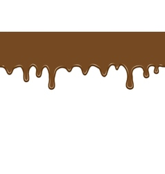 flowing chocolate vector image
