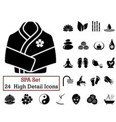 icon set SPA vector image vector image
