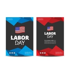 Labor day leaflet vector