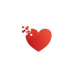 love pixel logo vector image