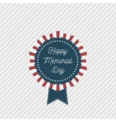 Memorial day patriotic emblem with text vector