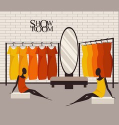 modern loft interior showroom fashion vector image