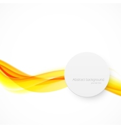 Orange wave vector image vector image