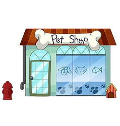 Pet shop vector image