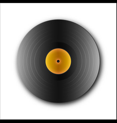Picture of an isolated vinyl plate retro music vector