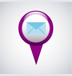 Pin pointer location with business icon vector