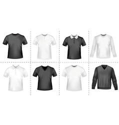 polo shirts and t-shirts vector image