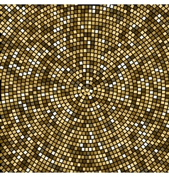 Radial tile mosaic design background pattern vector image