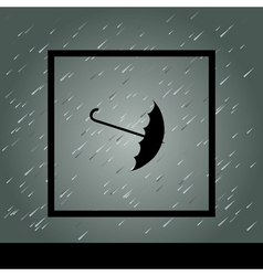 Rain Umbrella and Frame vector image