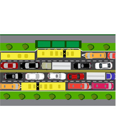 road street or highway with complex traffic the vector image vector image