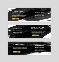 set of banners of splash ink design vector image