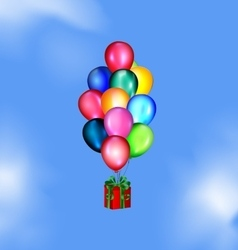 Sky and balloons gift vector