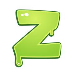 slimy font type letter z vector image