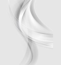 Smooth grey pearl wavy background vector image vector image