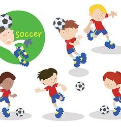 Soccerteam 01 vector image