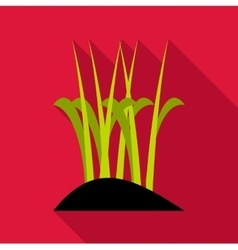 Sprouts icon flat style vector