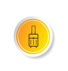 sticker of travel bag icon vector image vector image