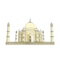 Taj Mahal outlines in very high detail vector image