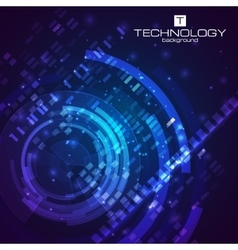 Technology background with hud elements vector