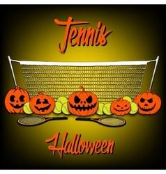 Tennis and halloween vector