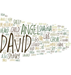 The angel child text background word cloud concept vector